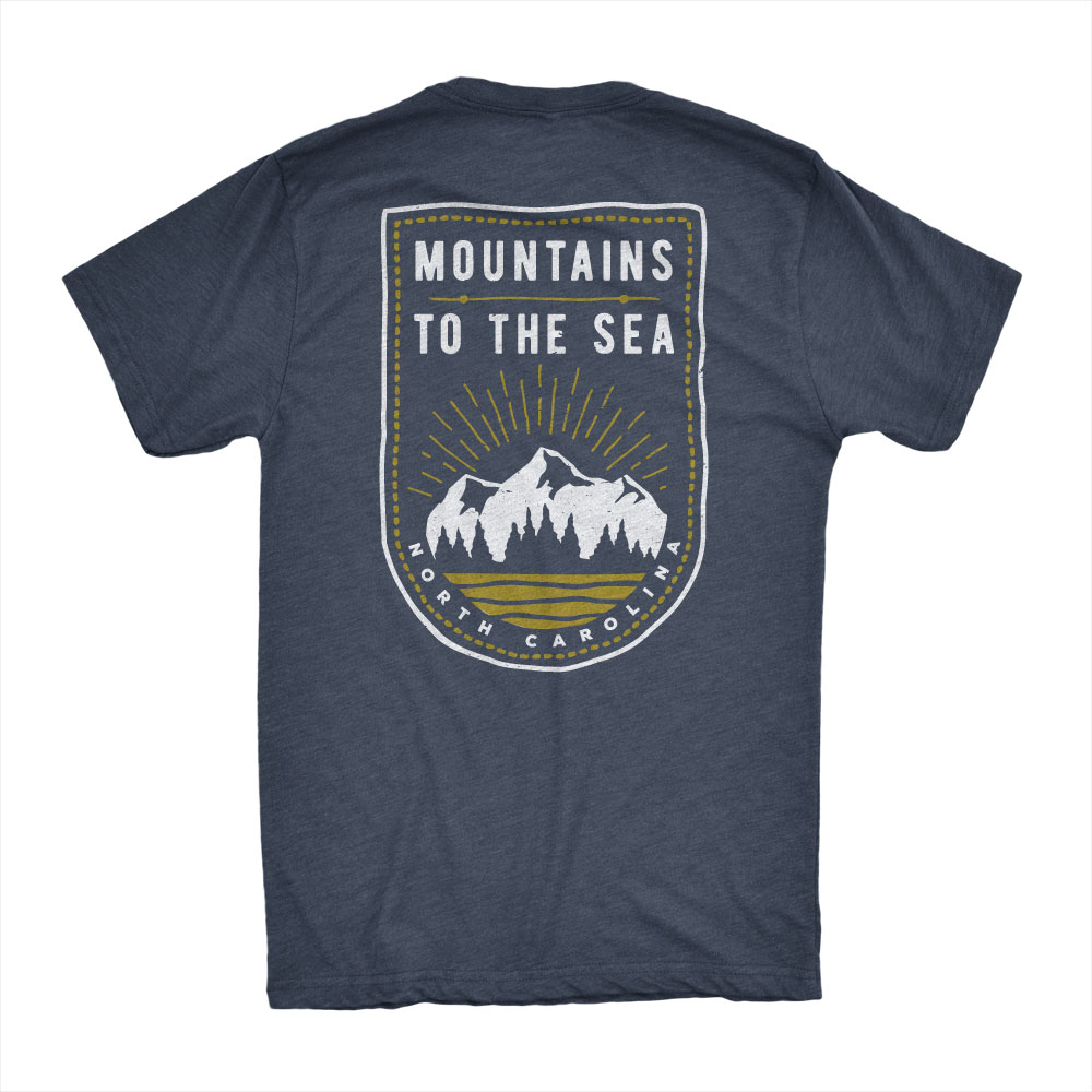 mountains to the sea t-shirt design