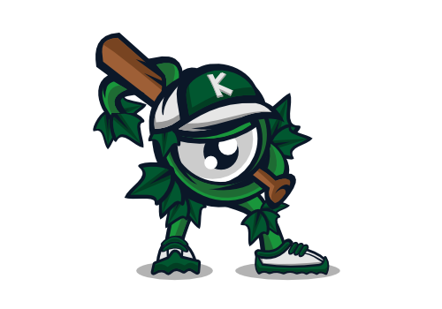 baseball mascott illustration logo