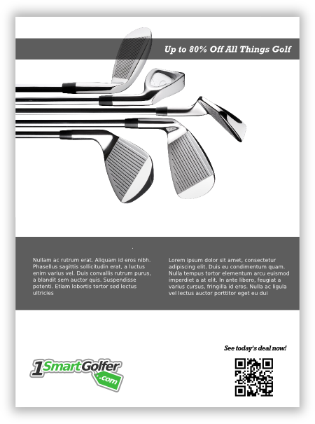 print ad 2 for golf company