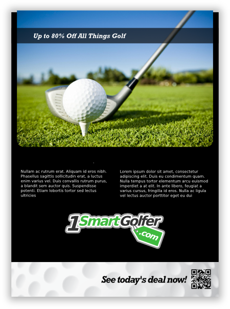 print ad 3 for golf company