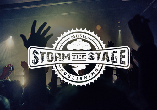 Storm the stage band logo design